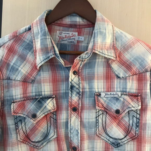 572fb4684 True Religion Plaid Western Shirt Vintage Red. M 5aa70312a825a60b5d2406af.  Other Shirts ...